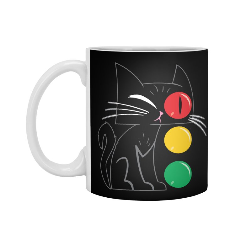 STOP! Cat Accessories Standard Mug by Frankenstein's Artist Shop