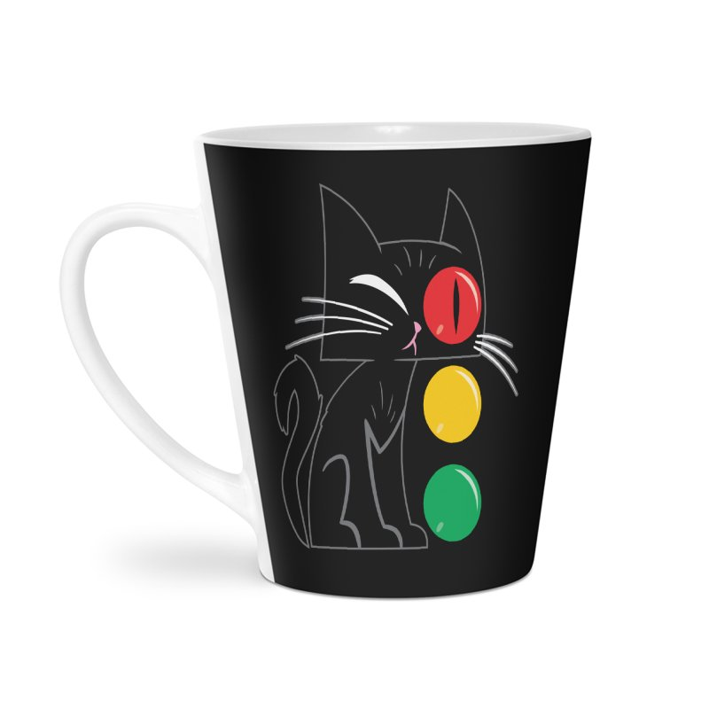 STOP! Cat Accessories Latte Mug by Frankenstein's Artist Shop