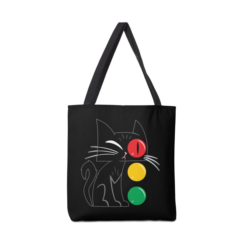 STOP! Cat Accessories Bag by Frankenstein's Artist Shop
