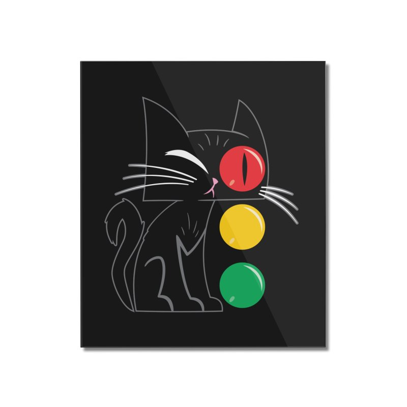 STOP! Cat Home Mounted Acrylic Print by Frankenstein's Artist Shop
