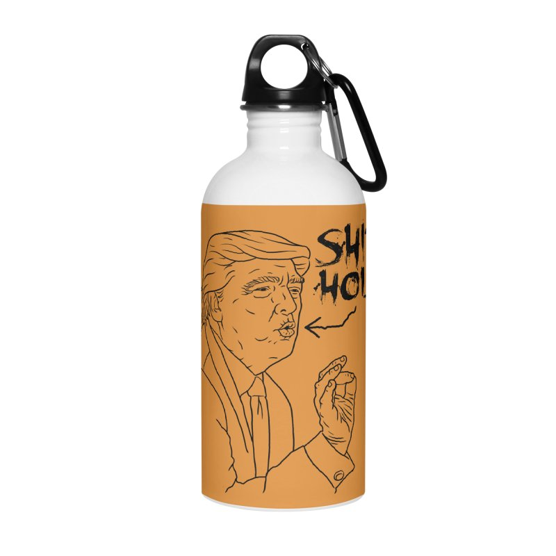 Trump has a Shithole for a Mouth Accessories Water Bottle by Frankenstein's Artist Shop