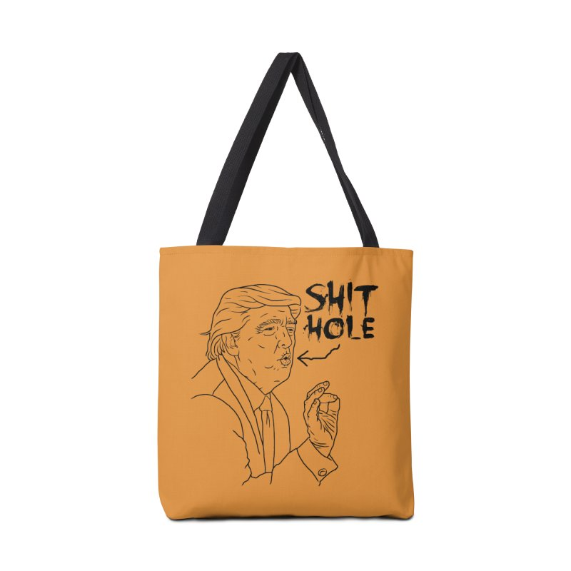 Trump has a Shithole for a Mouth Accessories Tote Bag Bag by Frankenstein's Artist Shop