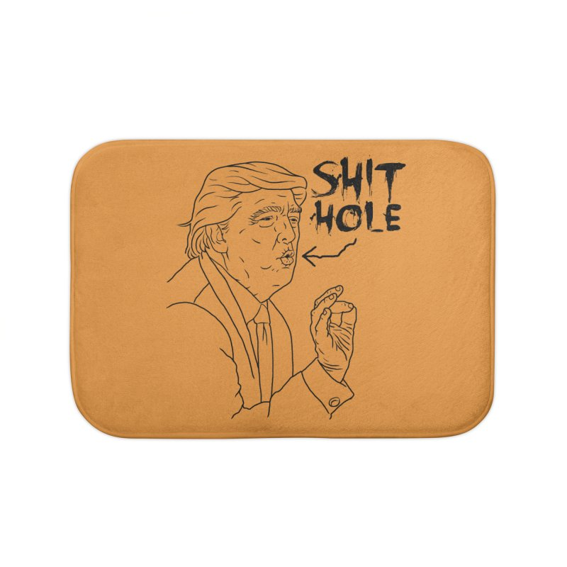 Trump has a Shithole for a Mouth Home Bath Mat by Frankenstein's Artist Shop