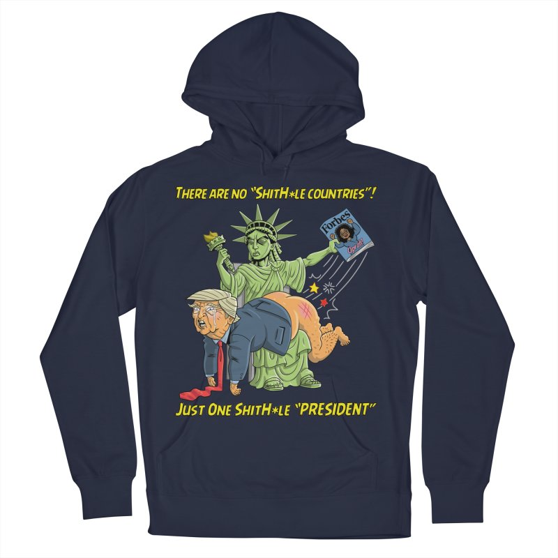 Bad SHITHOLE President! Women's Pullover Hoody by Frankenstein's Artist Shop