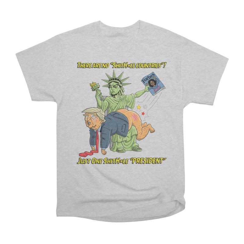 Bad SHITHOLE President! Men's Heavyweight T-Shirt by Frankenstein's Artist Shop