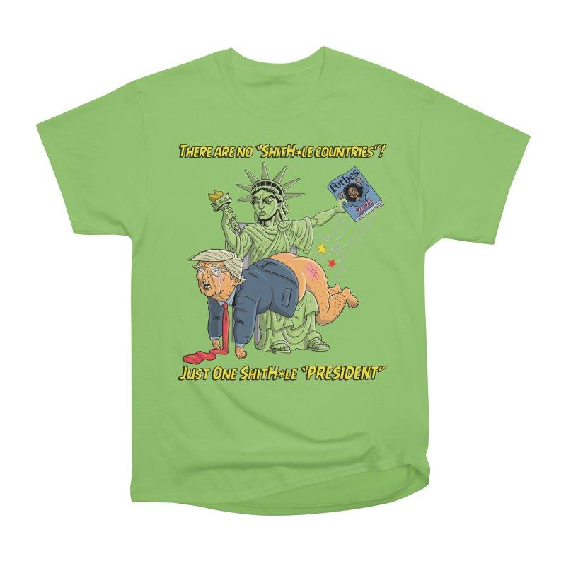 Bad SHITHOLE President! Women's Heavyweight Unisex T-Shirt by Frankenstein's Artist Shop
