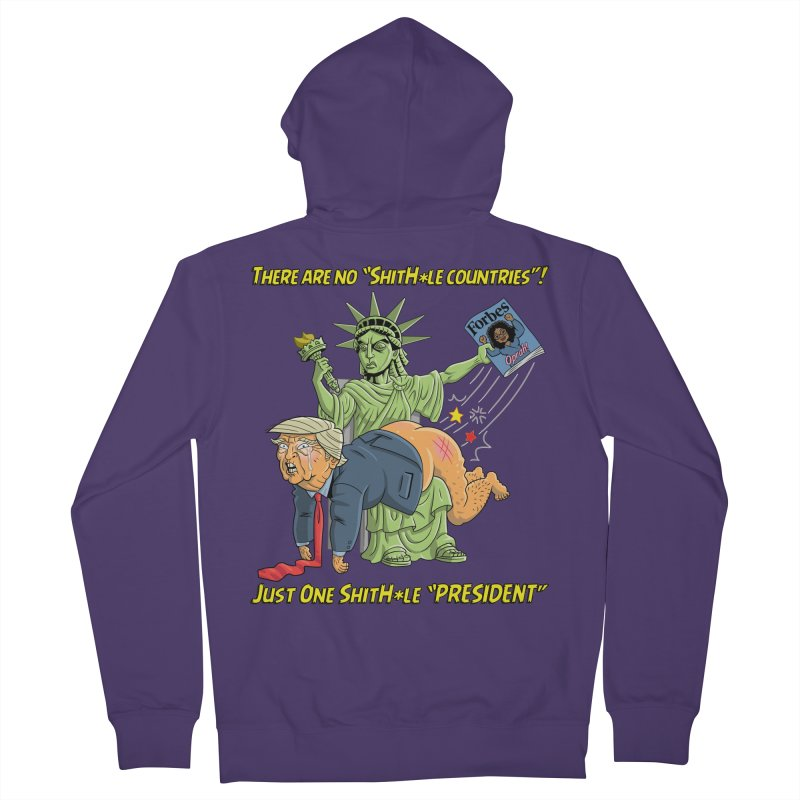 Bad SHITHOLE President! Women's Zip-Up Hoody by Frankenstein's Artist Shop