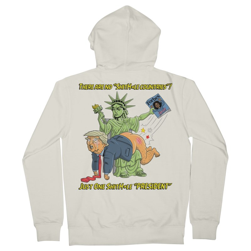 Bad SHITHOLE President! Women's French Terry Zip-Up Hoody by Frankenstein's Artist Shop