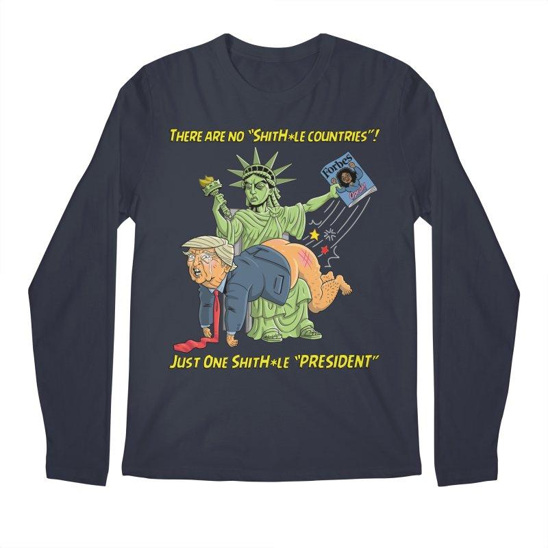 Bad SHITHOLE President! Men's Regular Longsleeve T-Shirt by Frankenstein's Artist Shop