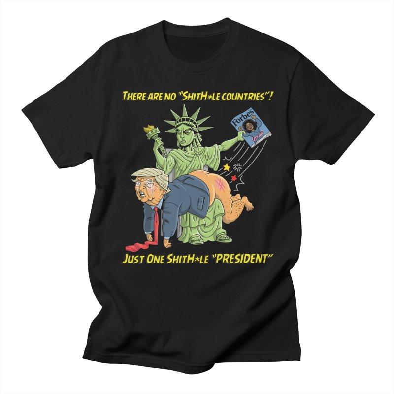 Bad SHITHOLE President! Women's Unisex T-Shirt by Frankenstein's Artist Shop