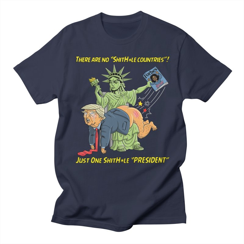 Bad SHITHOLE President! Men's Regular T-Shirt by Frankenstein's Artist Shop