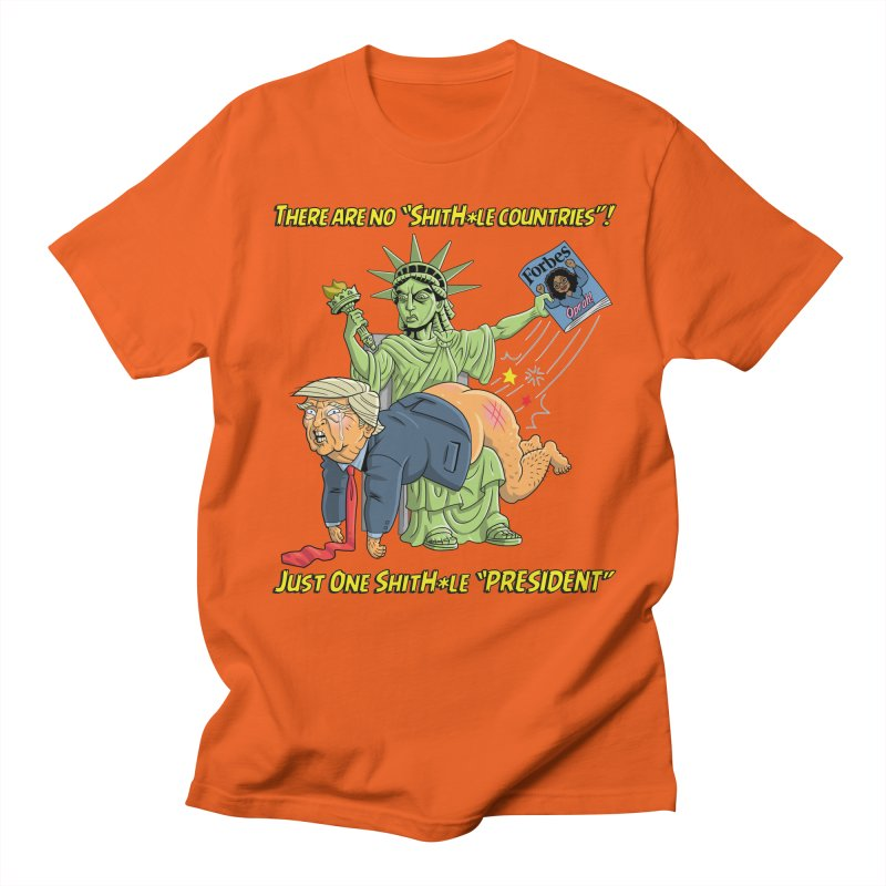 Bad SHITHOLE President! Men's Regular T-Shirt by Frankenstein's Artist Shop