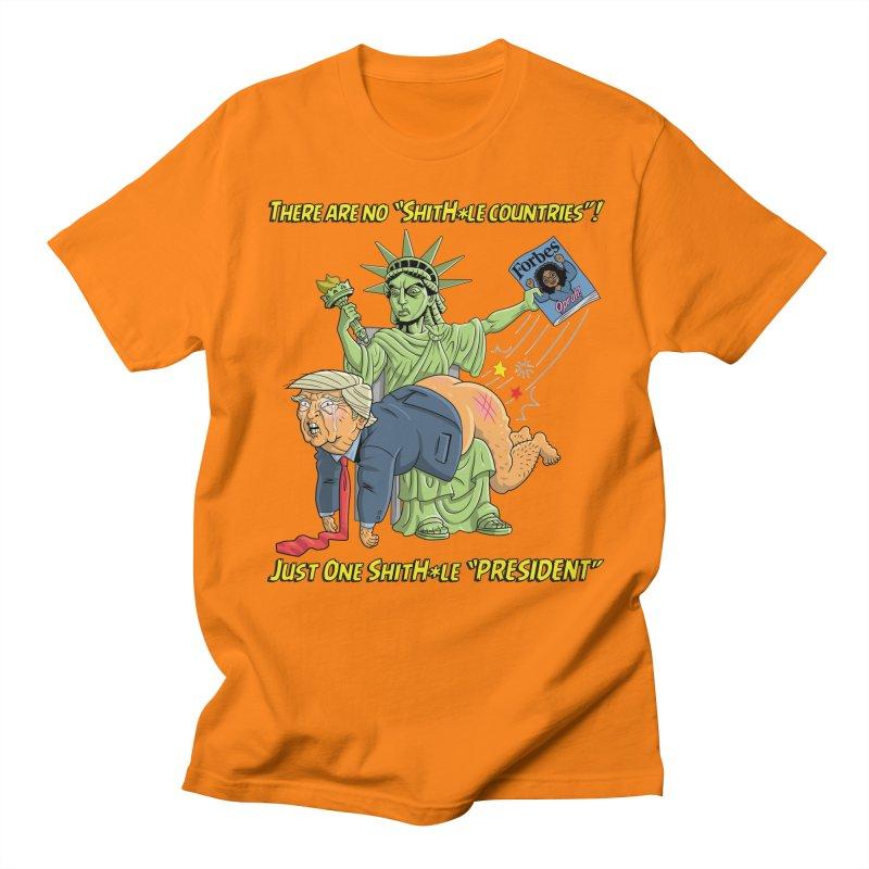 Bad SHITHOLE President! Men's T-Shirt by Frankenstein's Artist Shop