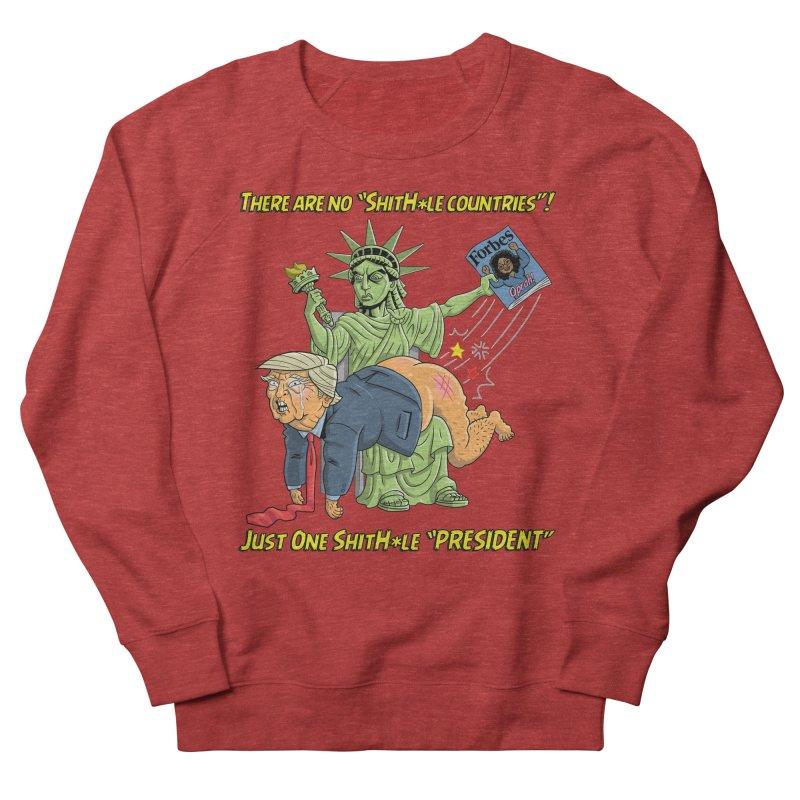 Bad SHITHOLE President! Men's French Terry Sweatshirt by Frankenstein's Artist Shop