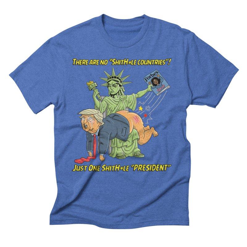 Bad SHITHOLE President! Men's Triblend T-Shirt by Frankenstein's Artist Shop