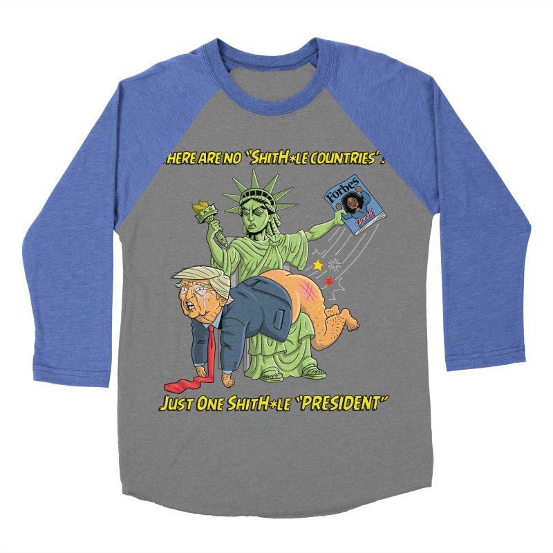 Bad SHITHOLE President! Women's Baseball Triblend Longsleeve T-Shirt by Frankenstein's Artist Shop