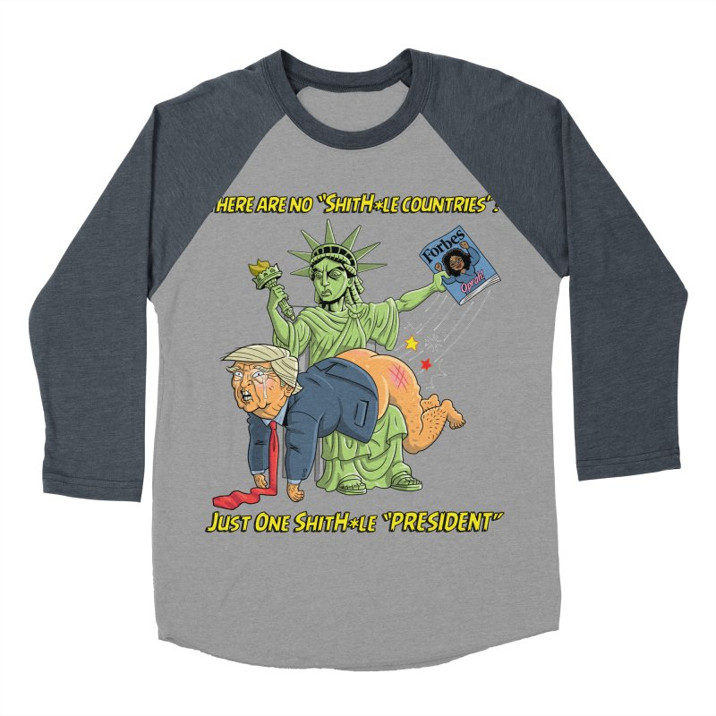Bad SHITHOLE President! Women's Baseball Triblend Longsleeve T-Shirt by Frankenstein's Artist Shop