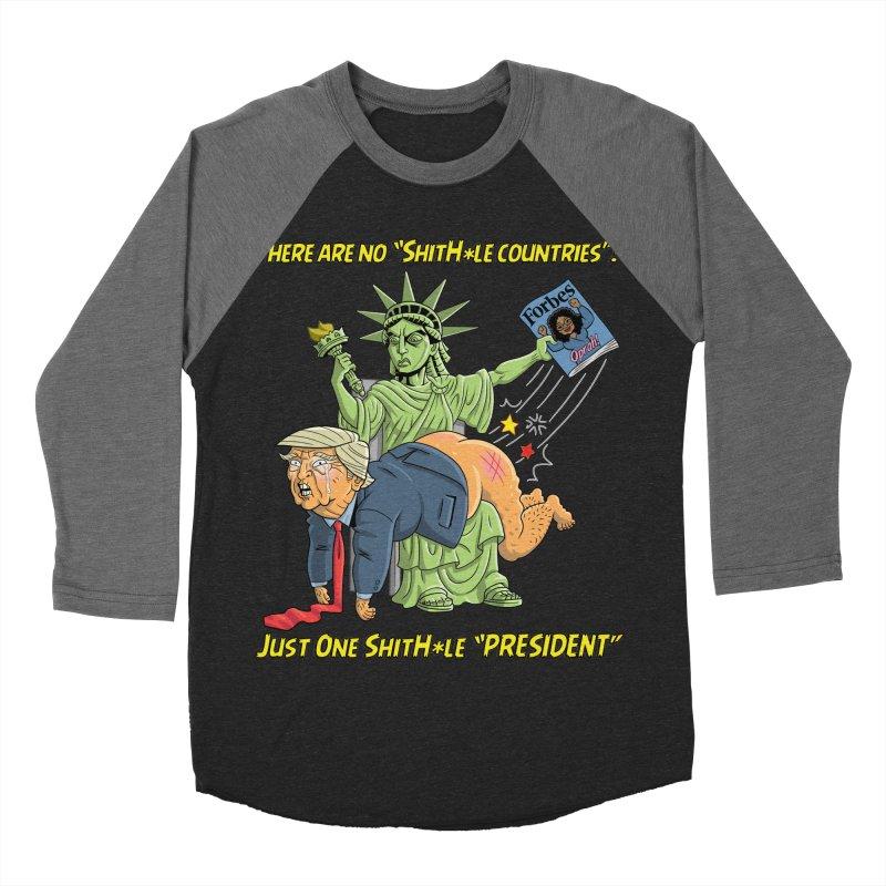 Bad SHITHOLE President! Men's Baseball Triblend T-Shirt by Frankenstein's Artist Shop