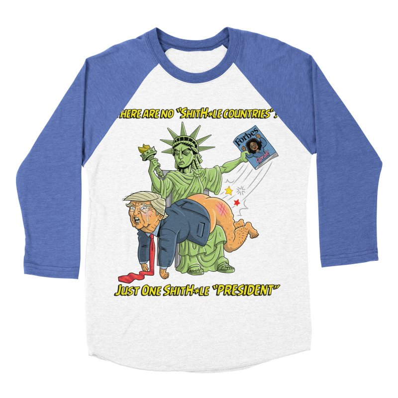 Bad SHITHOLE President! Men's Baseball Triblend T-Shirt by Frankenstein's Artist Shop