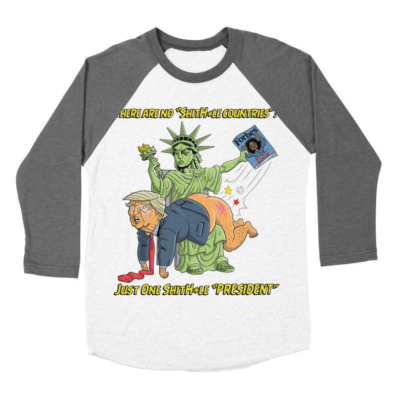 Bad SHITHOLE President! Men's Baseball Triblend Longsleeve T-Shirt by Frankenstein's Artist Shop