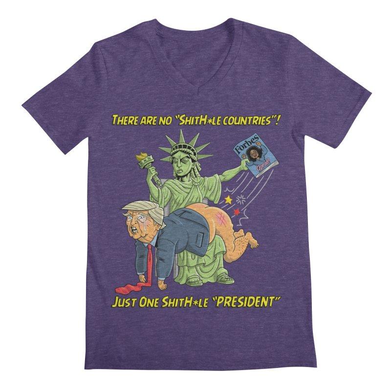 Bad SHITHOLE President! Men's Regular V-Neck by Frankenstein's Artist Shop