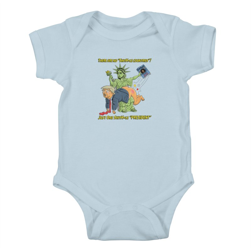 Bad SHITHOLE President! Kids Baby Bodysuit by Frankenstein's Artist Shop