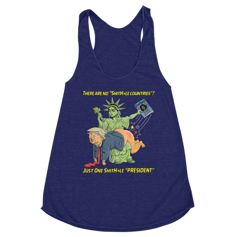 Bad SHITHOLE President! Women's Racerback Triblend Tank by Frankenstein's Artist Shop