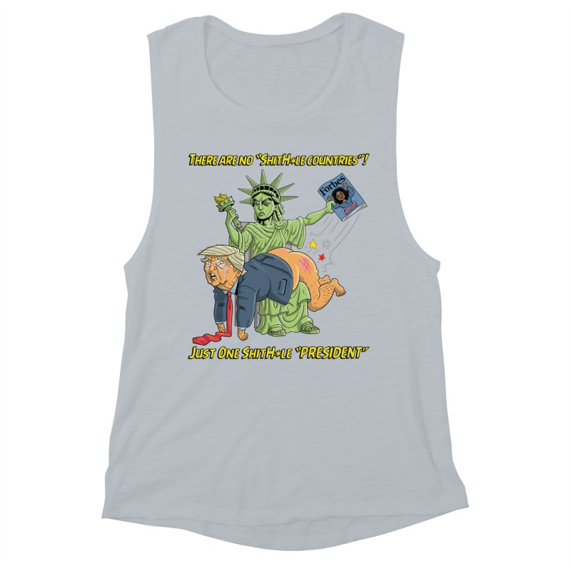 Bad SHITHOLE President! Women's Muscle Tank by Frankenstein's Artist Shop