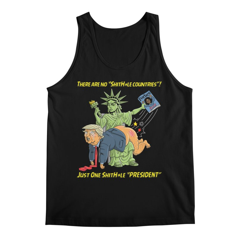 Bad SHITHOLE President! Men's Regular Tank by Frankenstein's Artist Shop