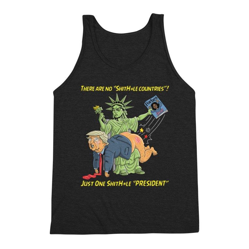 Bad SHITHOLE President! Men's Triblend Tank by Frankenstein's Artist Shop