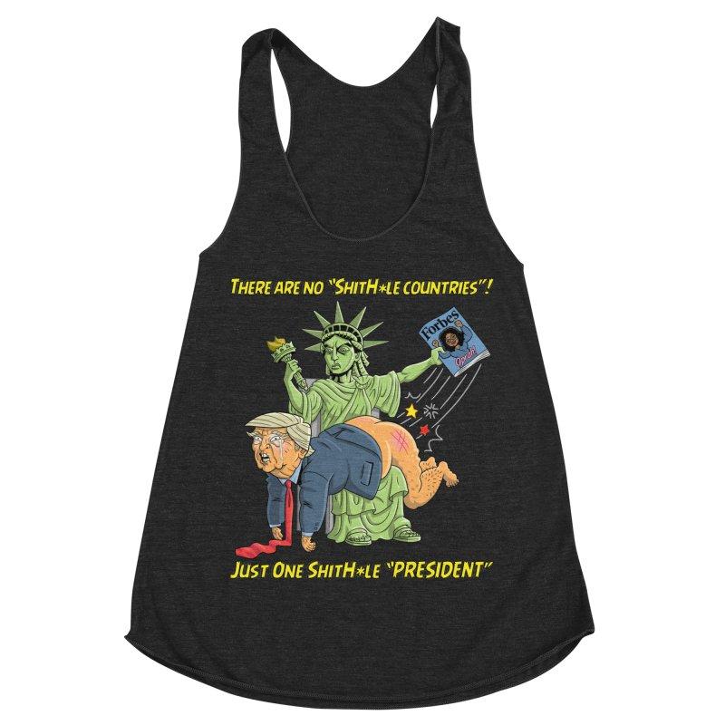 Bad SHITHOLE President! Women's Racerback Triblend Tank by Frankenstein's Artist Shop