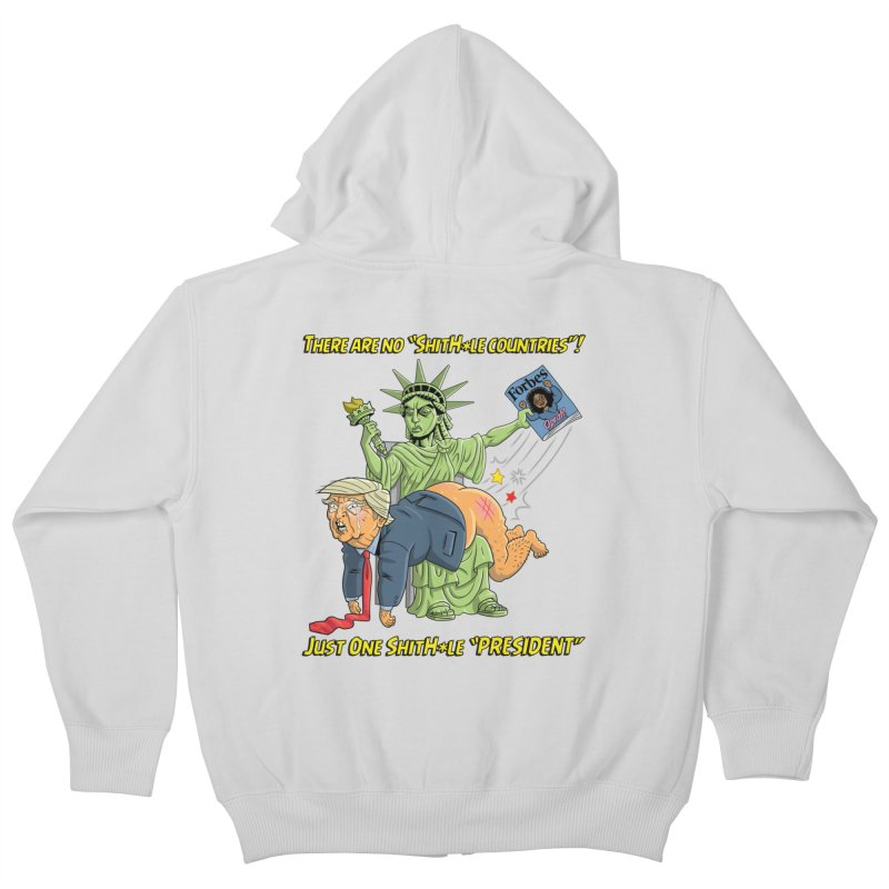 Bad SHITHOLE President! Kids Zip-Up Hoody by Frankenstein's Artist Shop