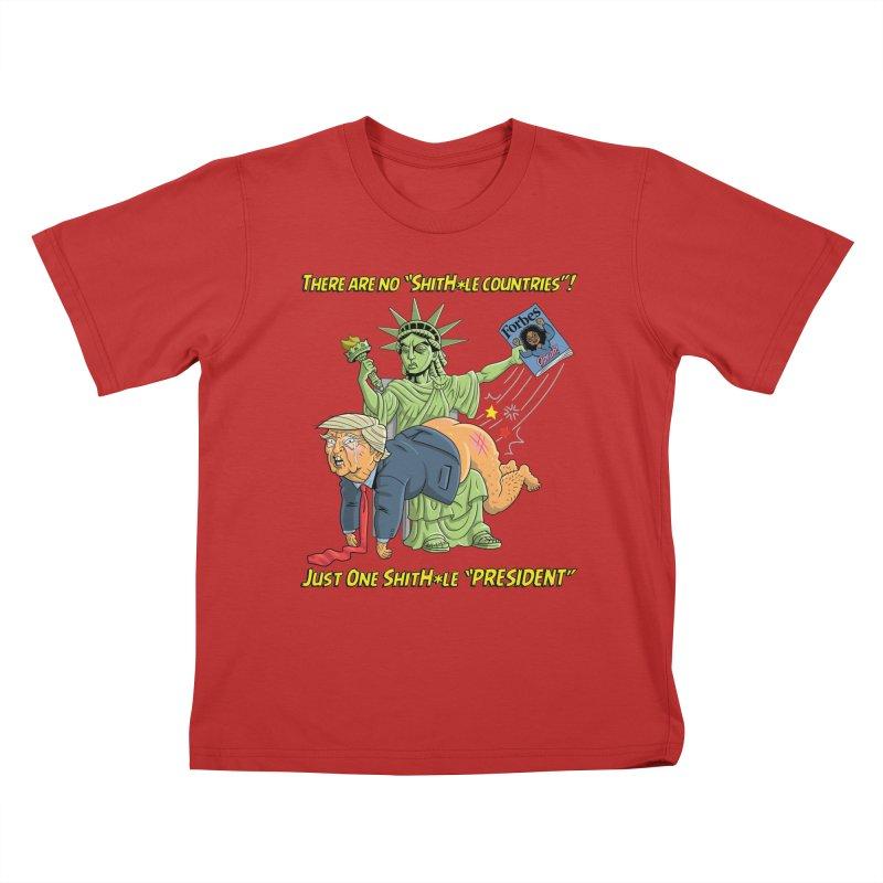 Bad SHITHOLE President! Kids T-Shirt by Frankenstein's Artist Shop