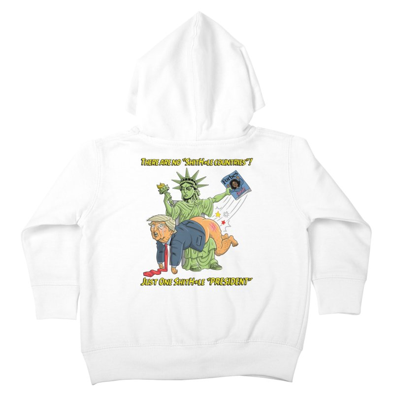 Bad SHITHOLE President! Kids Toddler Zip-Up Hoody by Frankenstein's Artist Shop