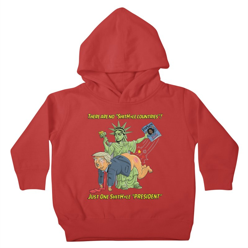 Bad SHITHOLE President! Kids Toddler Pullover Hoody by Frankenstein's Artist Shop