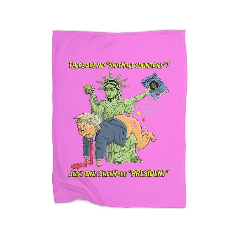 Bad SHITHOLE President! Home Fleece Blanket Blanket by Frankenstein's Artist Shop