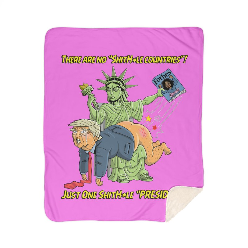 Bad SHITHOLE President! Home Sherpa Blanket Blanket by Frankenstein's Artist Shop