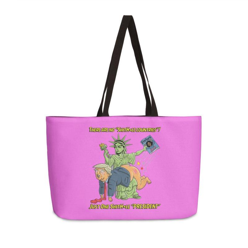 Bad SHITHOLE President! Accessories Weekender Bag Bag by Frankenstein's Artist Shop