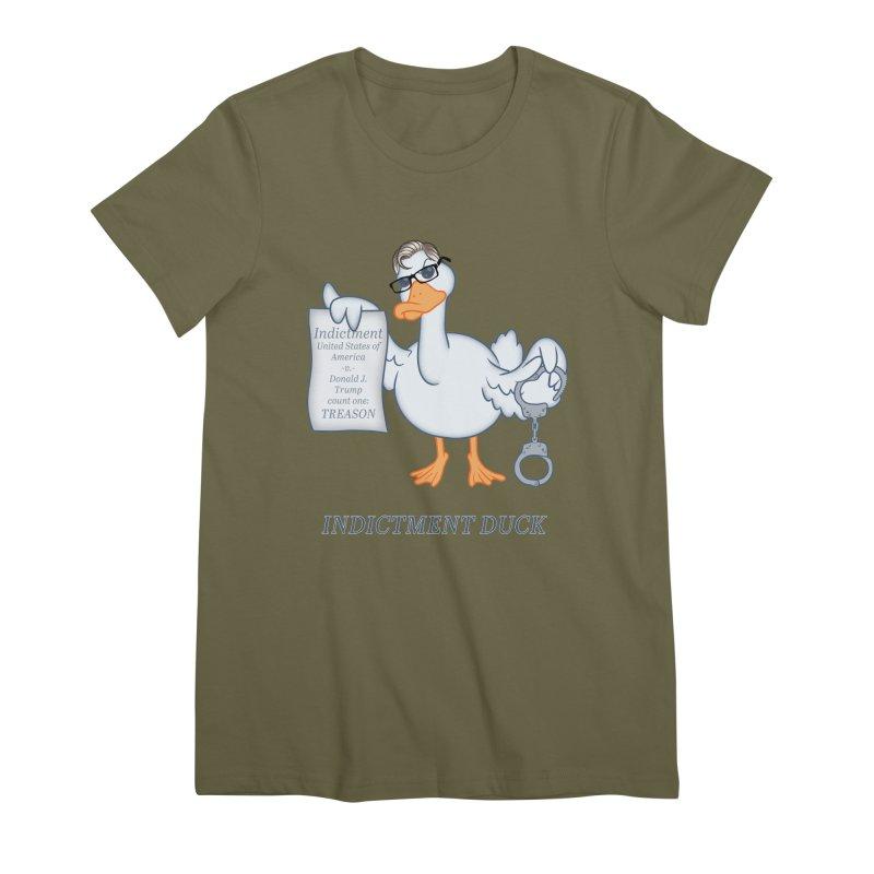Indictment Duck Women's Premium T-Shirt by Frankenstein's Artist Shop