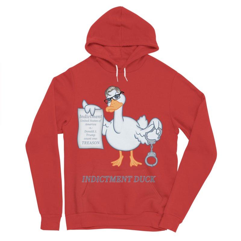 Indictment Duck Women's Sponge Fleece Pullover Hoody by Frankenstein's Artist Shop