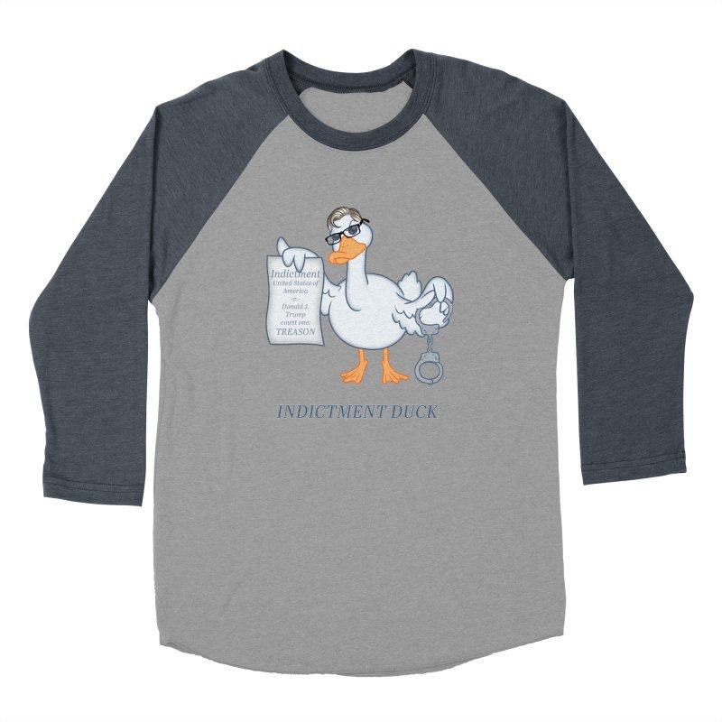 Indictment Duck Women's Baseball Triblend Longsleeve T-Shirt by Frankenstein's Artist Shop