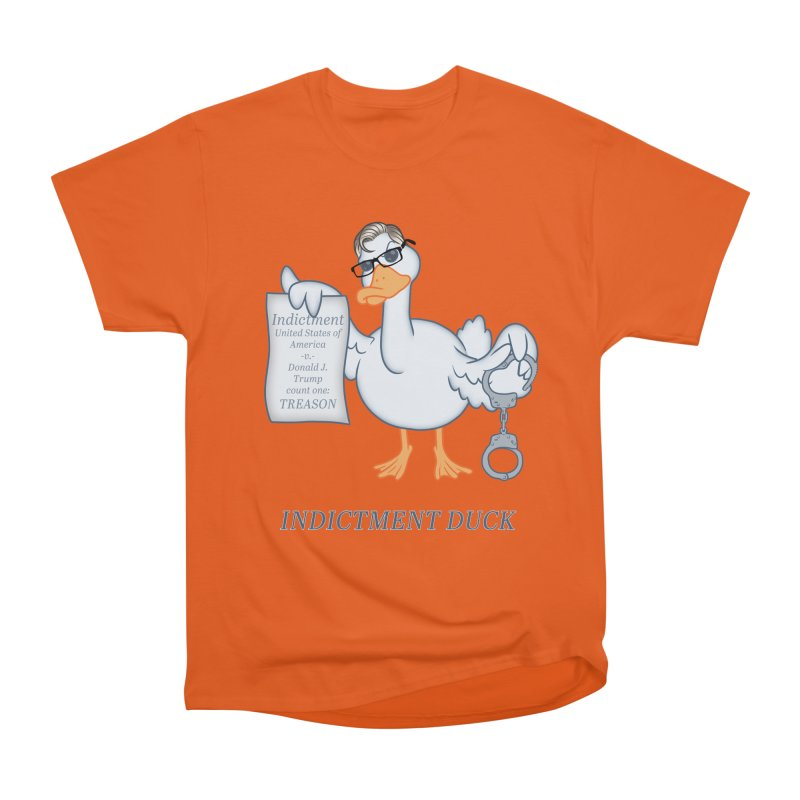 Indictment Duck Men's Heavyweight T-Shirt by Frankenstein's Artist Shop