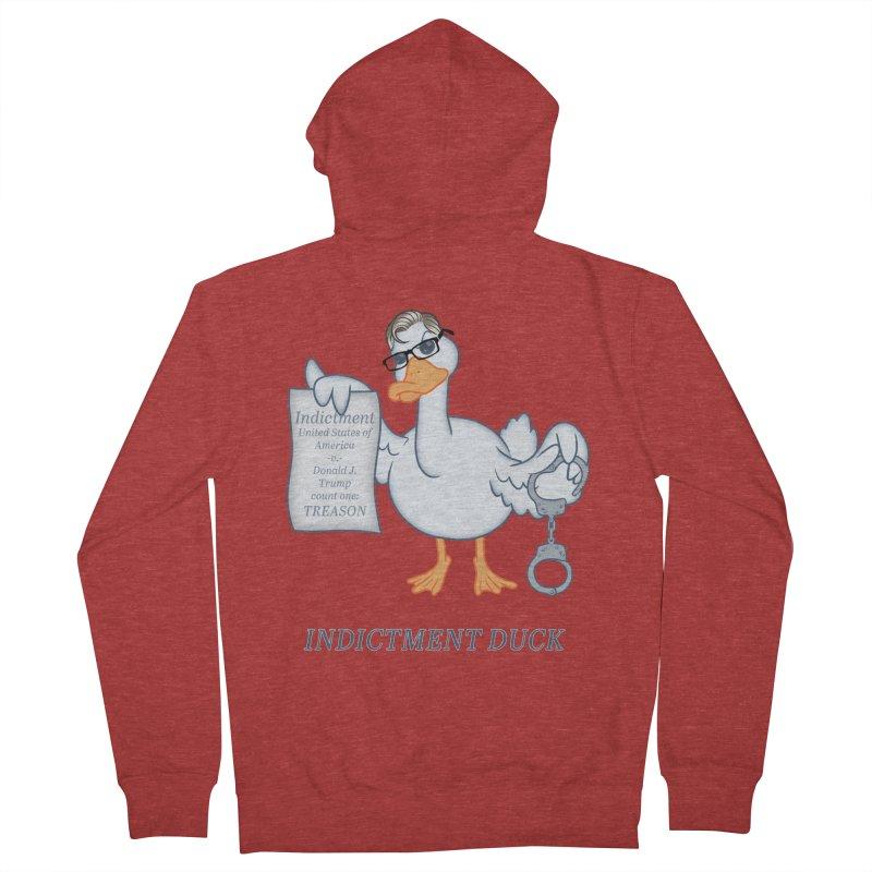 Indictment Duck Women's French Terry Zip-Up Hoody by Frankenstein's Artist Shop