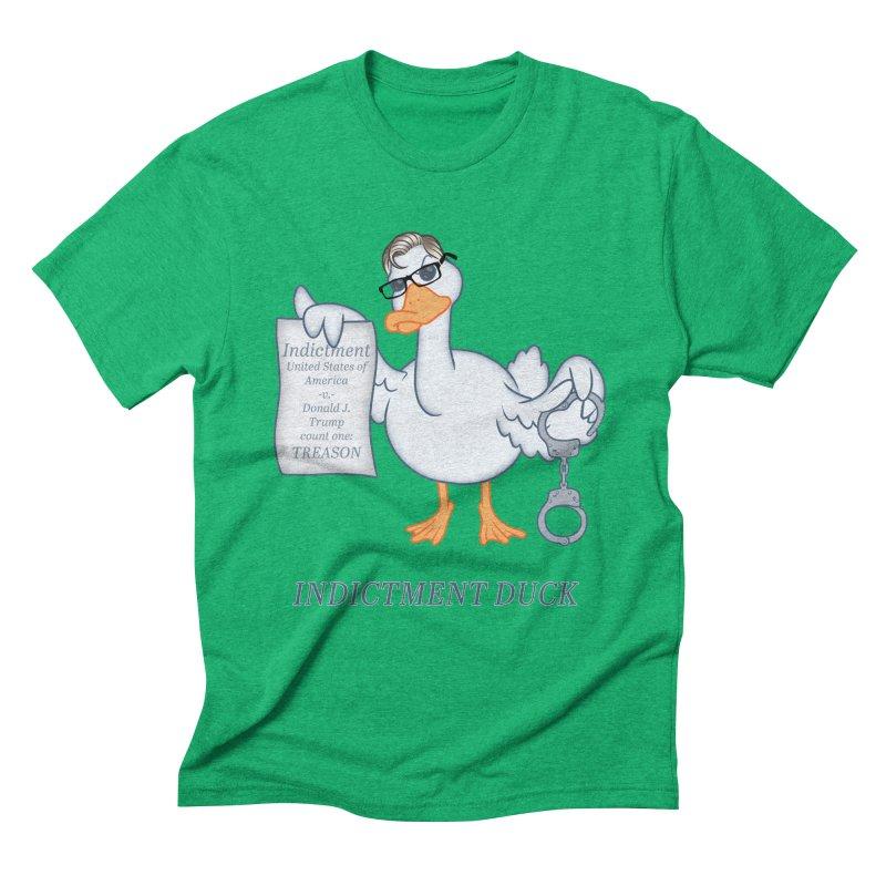 Indictment Duck Men's Triblend T-Shirt by Frankenstein's Artist Shop