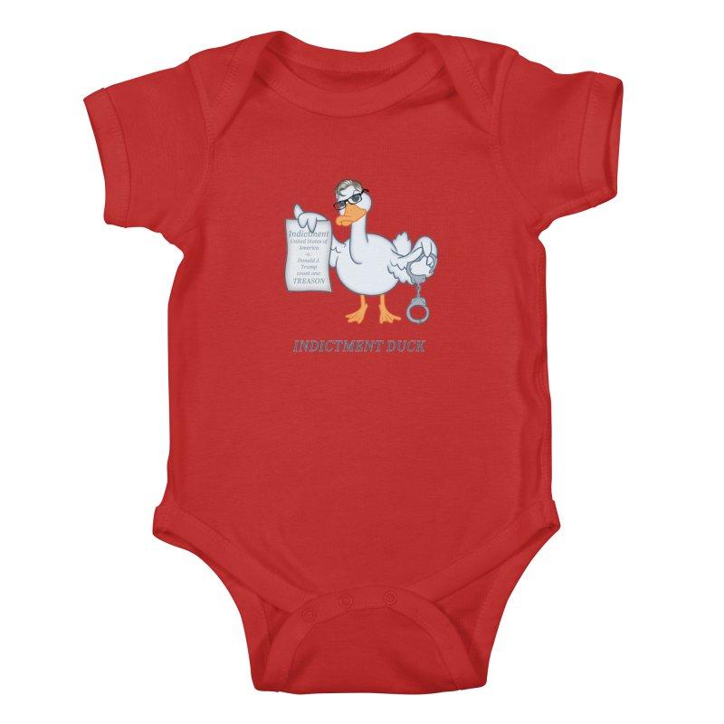Indictment Duck Kids Baby Bodysuit by Frankenstein's Artist Shop
