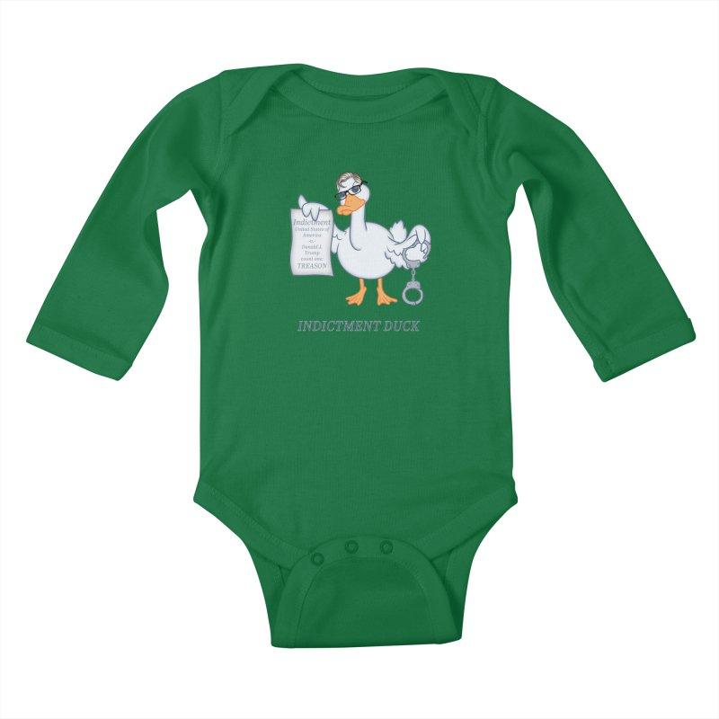 Indictment Duck Kids Baby Longsleeve Bodysuit by Frankenstein's Artist Shop