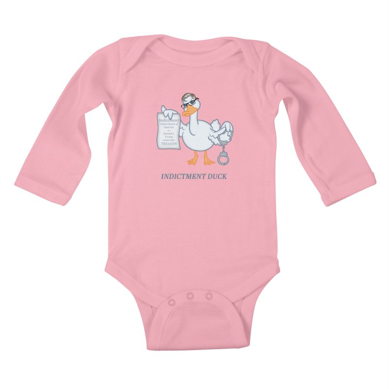 Indictment Duck Kids Baby Longsleeve Bodysuit by Frankenstein's Artist Shop