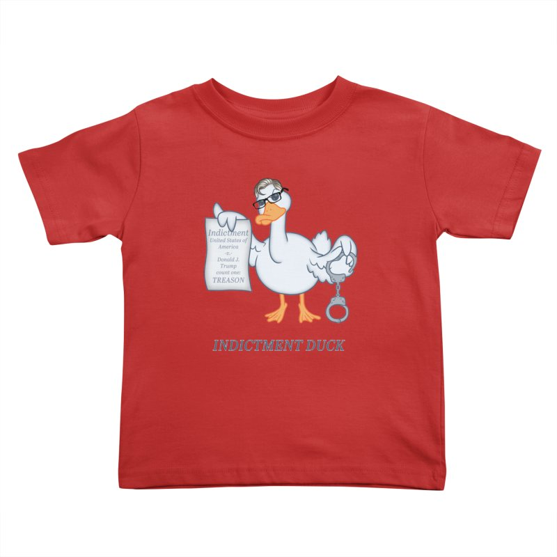 Indictment Duck Kids Toddler T-Shirt by Frankenstein's Artist Shop