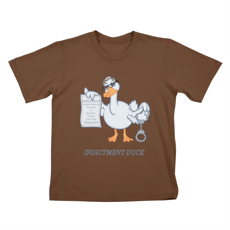 Indictment Duck Kids T-Shirt by Frankenstein's Artist Shop