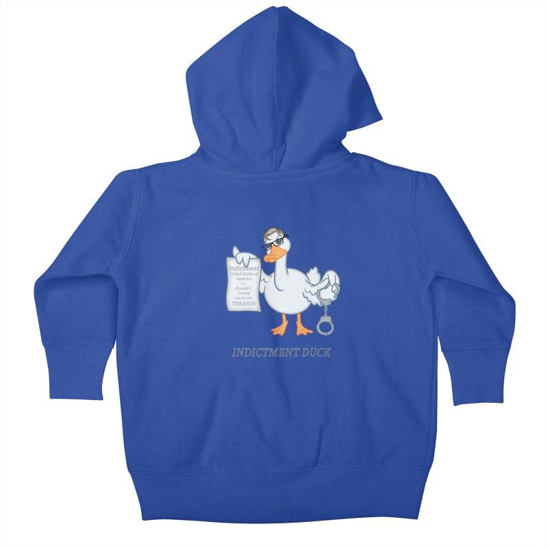 Indictment Duck Kids Baby Zip-Up Hoody by Frankenstein's Artist Shop